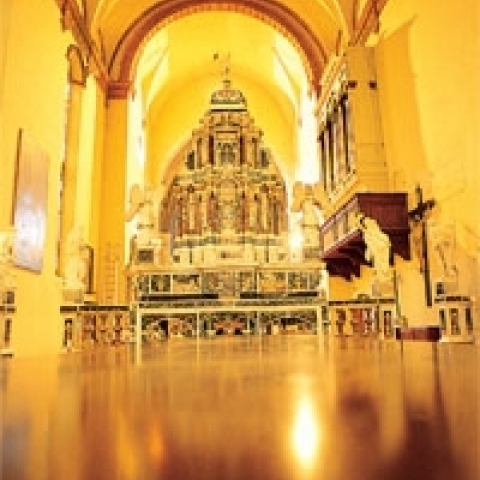 Interior of Vicenza cathedral Italy
