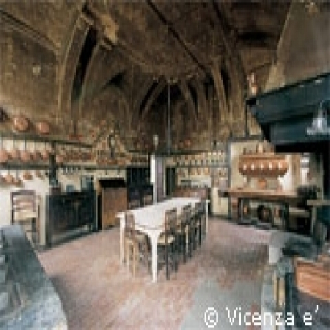 The interior of a villa near Vicenza Italy