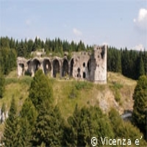 Ruins of a castle outside Vicenza Italy