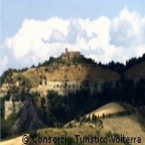 Volterra and its green countryside Italy