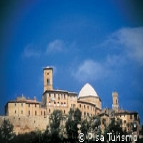 Towers and churches of Volterra Italy