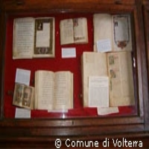 The historical archive in Volterra Italy