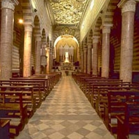 The interior of Volterra Cathedral Italy
