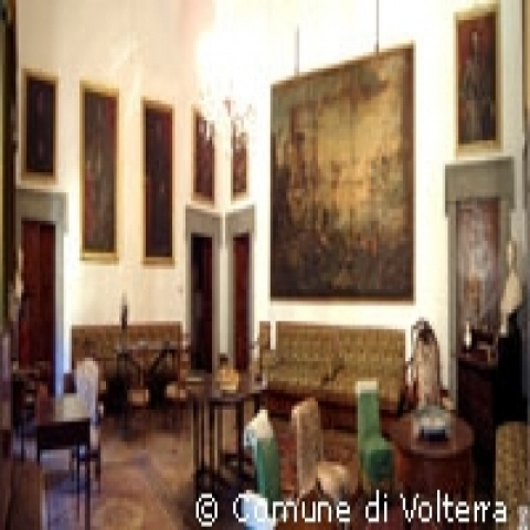A room in Volterra Priori palace Italy