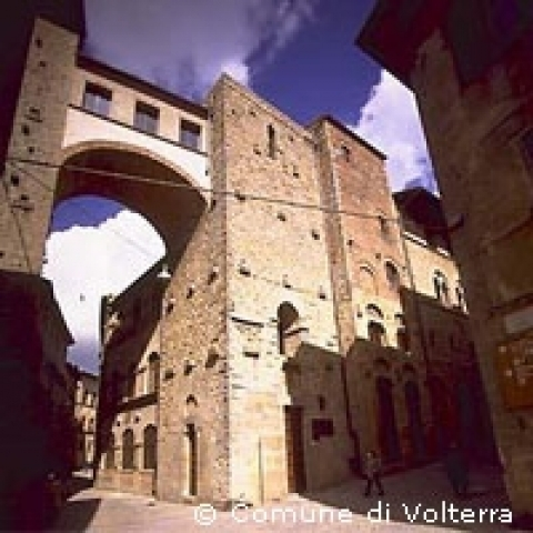 The Buonparenti tower house in Volterra Italy