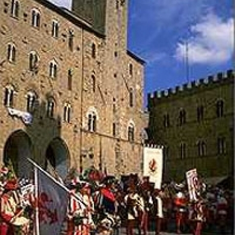 Historical festival in Volterra Italy