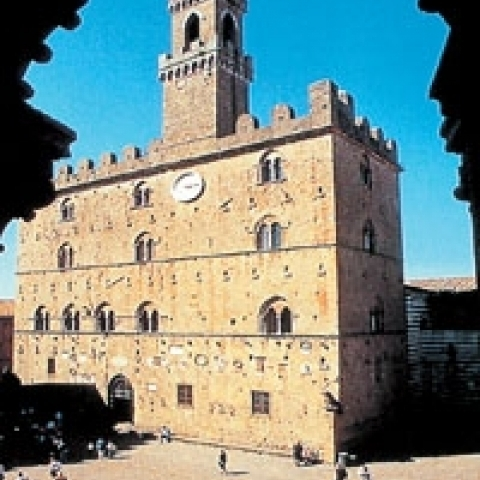 A view of Volterra main square Italy