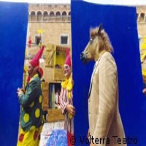 The carnival in Volterra Italy