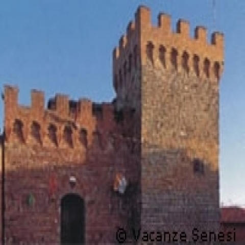 A tower in a castle outside Siena Italy