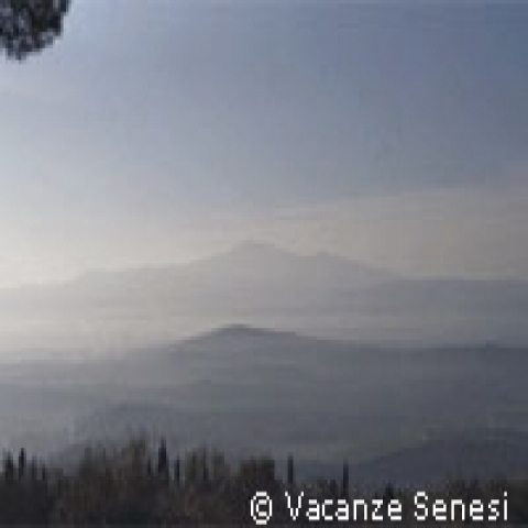 A typical sunrise in Val D'Orcia near Siena Italy