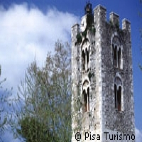 A medieval tower in Pisa counstryside Italy