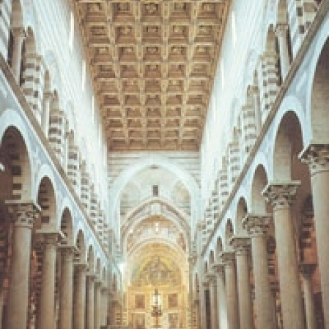 The ceiling of Pisa Cathedral Italy