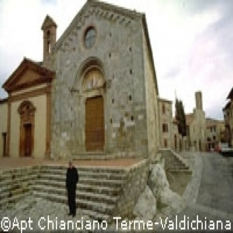 A small church in Chianciano near Montepulciano Italy