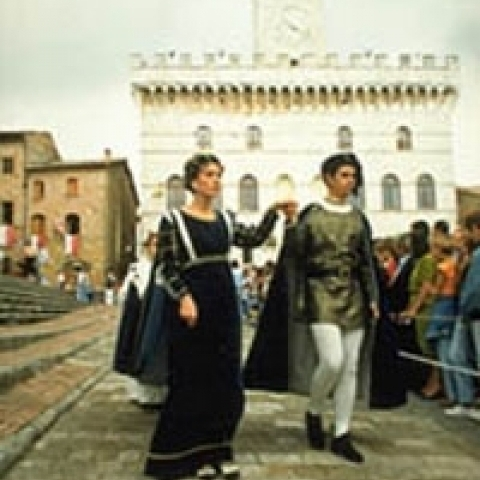 An historical pageant in Montepulciano Italy