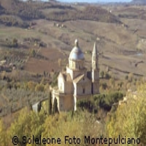 A view of  San Biagio church in Montepulciano Italy