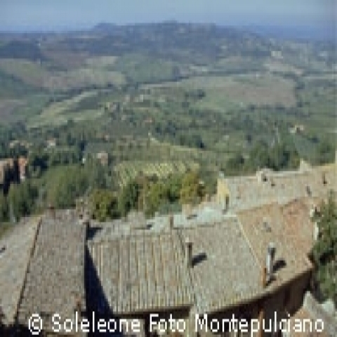 View of the countryside from Montepulciano Italy