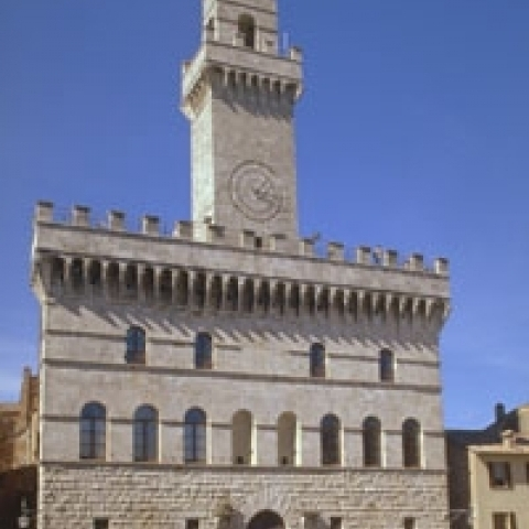 The Town Hall of Montepulciano Italy