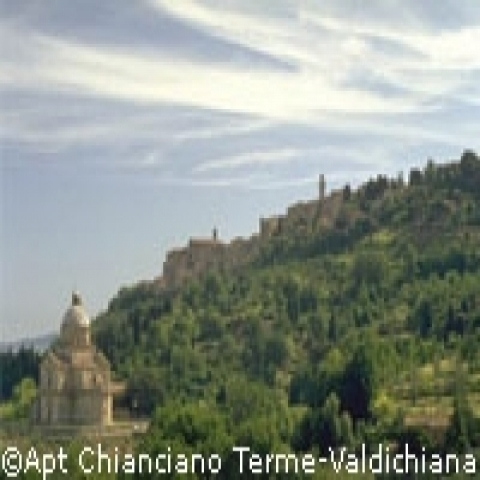 San Biagio church in Montepulciano outskirts Italy