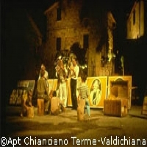 Outdoor theater performance in Montepulciano Italy
