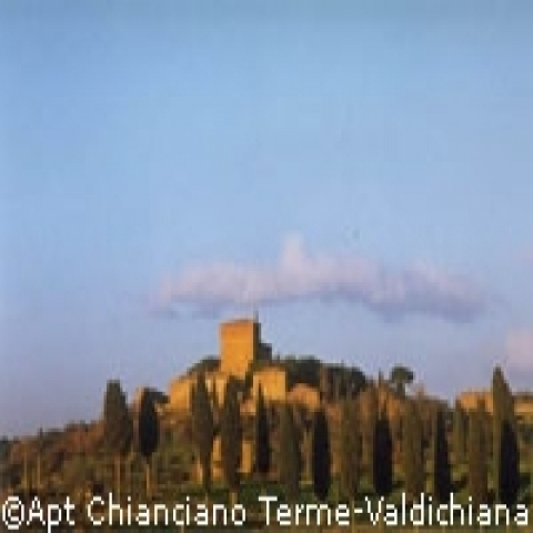 A medieval castle near Montepulciano Italy