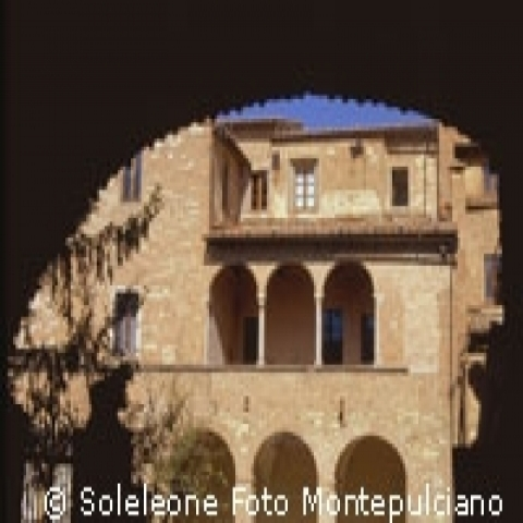 A building with loggia in Montepulciano Italy