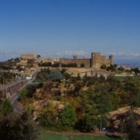 A view of Montalcino castle Italy