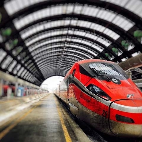 Milan Central Train Station Freccia Rossa Highspeed