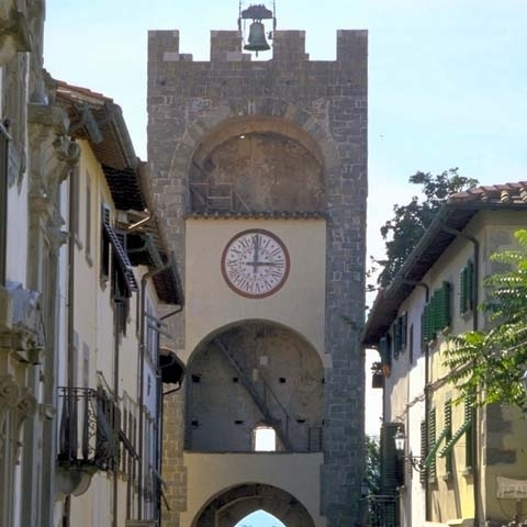 A city gate in a village near Arezzo Italy