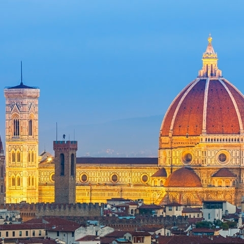 Florence Landmarks Sunset View
