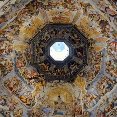 Interior of Brunelleschi Dome Florence Italy