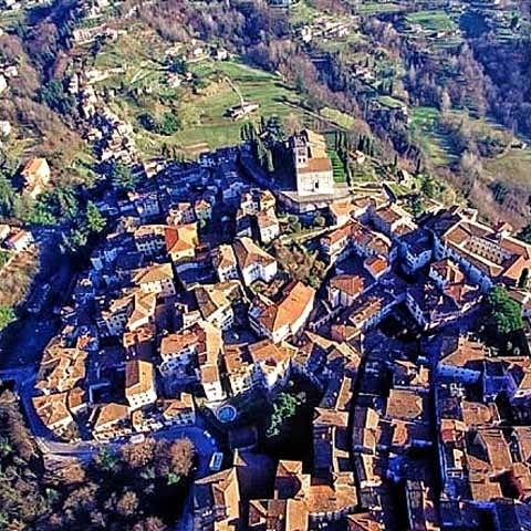 A view of Barga Medieval Town near Lucca Italy
