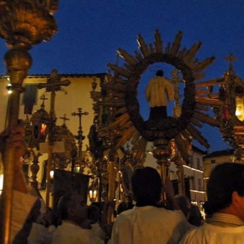 Celebration of Holy Cross in Lucca Italy
