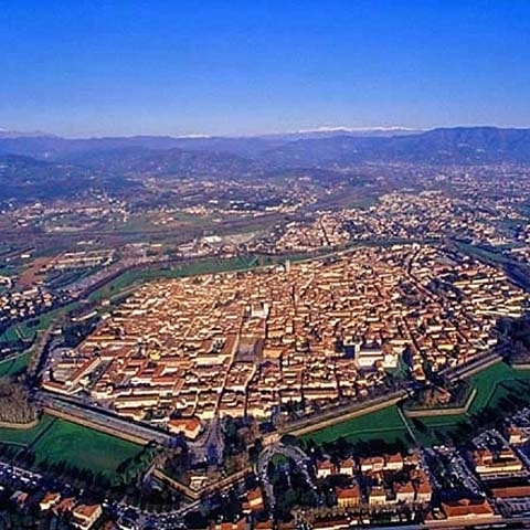 View Of Lucca Entire Medieval City Walls