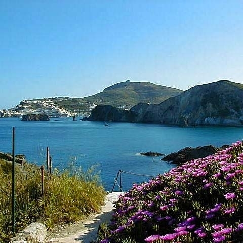 Ponza Coast Pontine Islands Italy