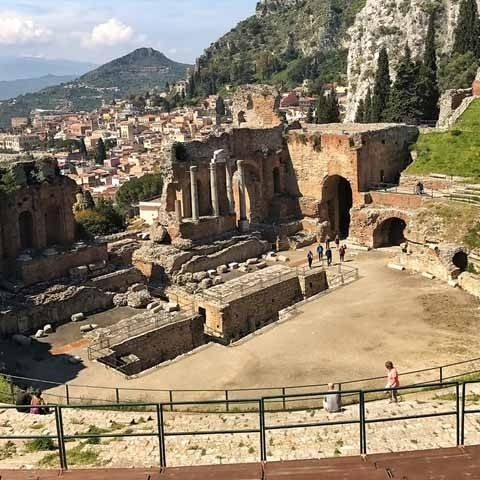 Taormina Greek Theather View
