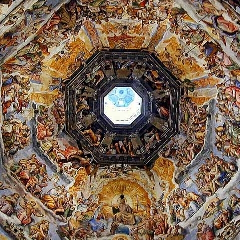 Florence Dome Cathedral St Maria del Fiore Frescoes