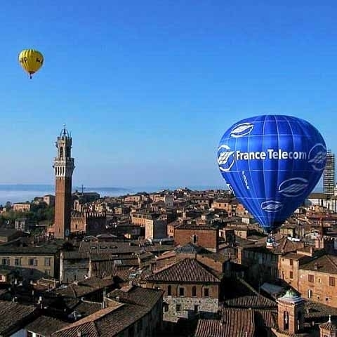 Areal View of City of Siena Hotbaloons