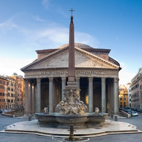 Pantheon Frontal View Rome