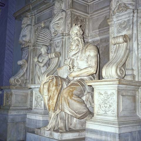 Michelangelo's Moses Statue Rome Italy