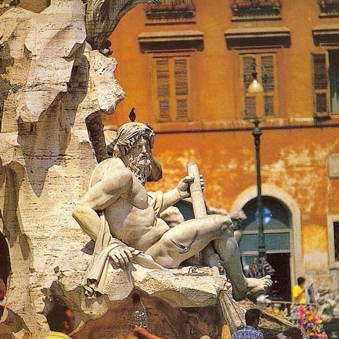 Piazza Navona Fountain of Four Winds Rome