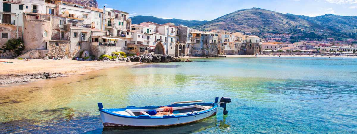 Cefalu' Sicily View Dock and Town