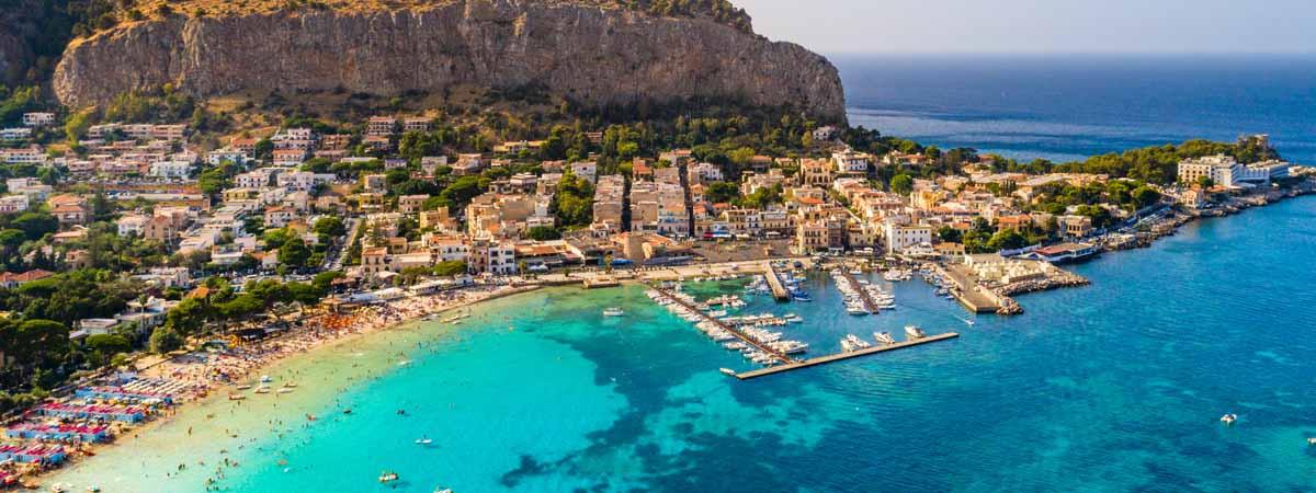 Palermo Mondello Beach Coast Sicily