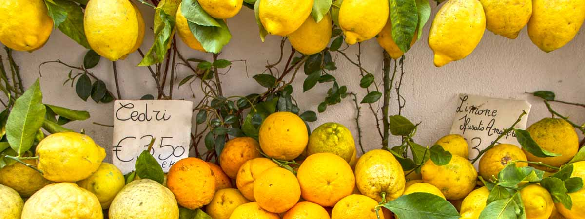 Amalfi Coast Citrus Food Limoncello