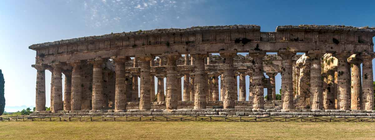 Campania Paestum Archeological Sites Greek Theather
