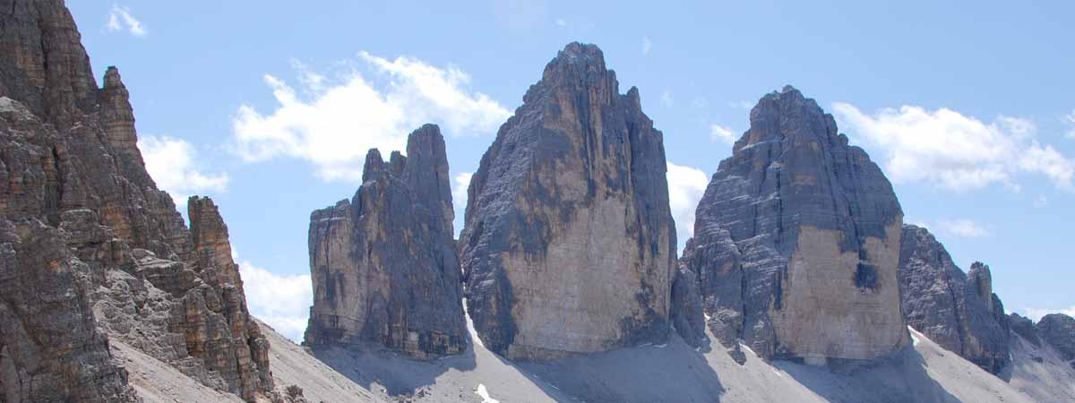 Dolomites Lavaredo Three Peaks Chain Italian Alps