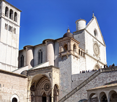Assisi birth place of Sant Francis view cathedral