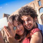 Rome Colosseum Selfie Couple