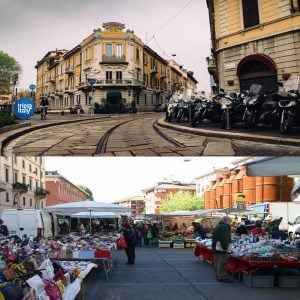 Open Air Markets Milan Italy
