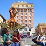 Rome Tritone Fountain Bernini View