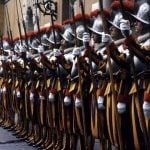 Rome Vatican Swiss Guards Lineup